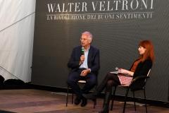 Walter Veltroni con Francesca Baraghini che ha moderato le due giornate
