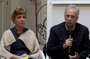 Pamela Villoresi e Walter Veltroni