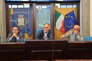 Buffa, Luccarini e il sindaco Romano Franchi