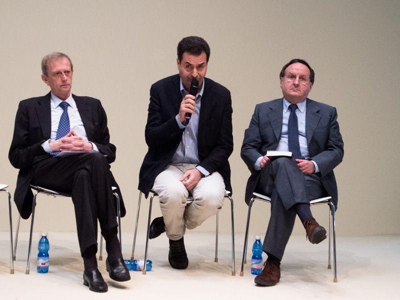 Piero Fassino, Andrea Palombi e Pier Vittorio Buffa