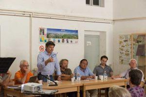 Vinca, il sindaco di Fivizzano Paolo Grassi, alla sua sinistra Contini e Buffa